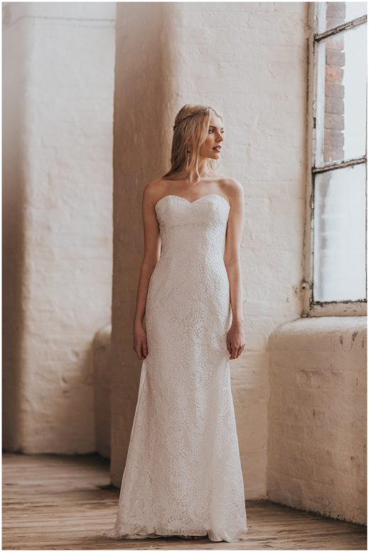 Savannah - boho lace wedding dress by Shikoba bride