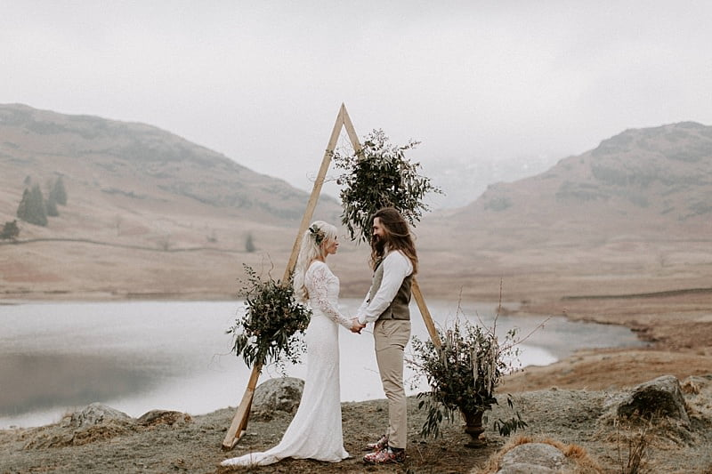 Wild Bohemian Elopement at Blea Tarn