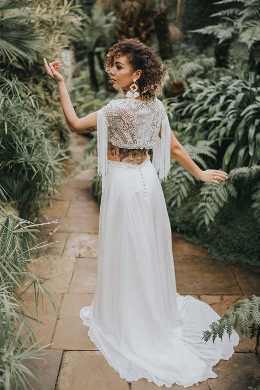 Arlo Sisters Of Bohemia by Shikoba Bride Boho wedding dress
